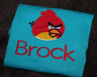 Personalized Angry Birds Shirt