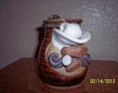 Vintage Eakin Face Mug or Coffee Cup -- Handmade, Rare & Signed, Famous Artist SALE
