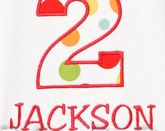 Personalized Birthday Boy Shirt, Birthday Shirt, Number, Monogrammed, Appliqued, Custom Fabric Choices and Colors, Boys Birthday Shirt