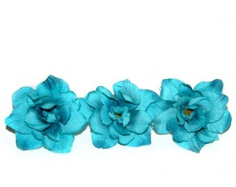 3 Turquoise Silk Delphinium - 4 layers - Silk Flowers, Artificial Flowers - PRE-ORDER