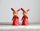 vintage bunny girl salt and pepper shakers