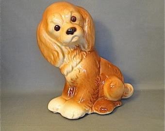 Vintage Royal Copley Spaniel Puppy Dog Planter