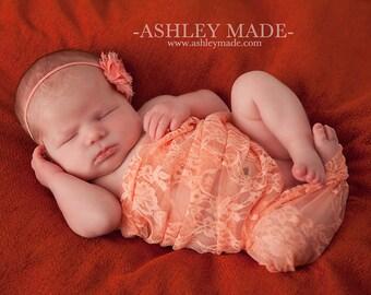 Lace Baby Wrap, Peach Lace Wrap, Newborn Stretch Wrap, Baby Girl Prop, Newborns Props, Baby Wrap, Layering Fabric, Newborn Photography Prop