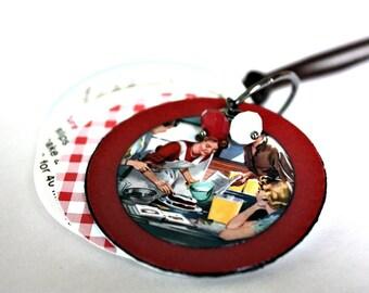 Cookbook Journal Necklace / Sketch Book Necklace : Miniature Sketch Book Necklace 'What 'Cha Got Cookin'
