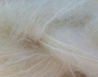 Mohair Yarn in Natural White Fingering Weight