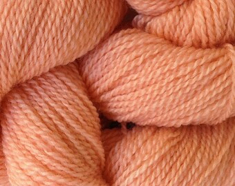 Merino Wool Yarn Lace Weight in Melon Orange Hand Painted