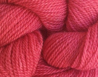 Merino Wool Yarn Lace Weight in Sun Red Hand Painted
