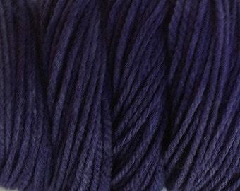 Navy Blue Worsted Weight Hand Dyed Merino Wool Yarn