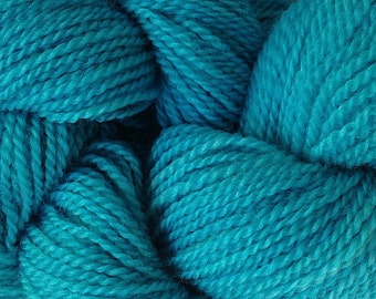 Merino Wool Yarn Lace Weight in Frost Blue Hand Painted Aqua