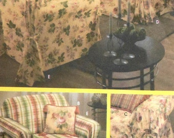 Couch and Armchair Slipcover Sewing Pattern UNCUT Simplicity 5699 sofa chair
