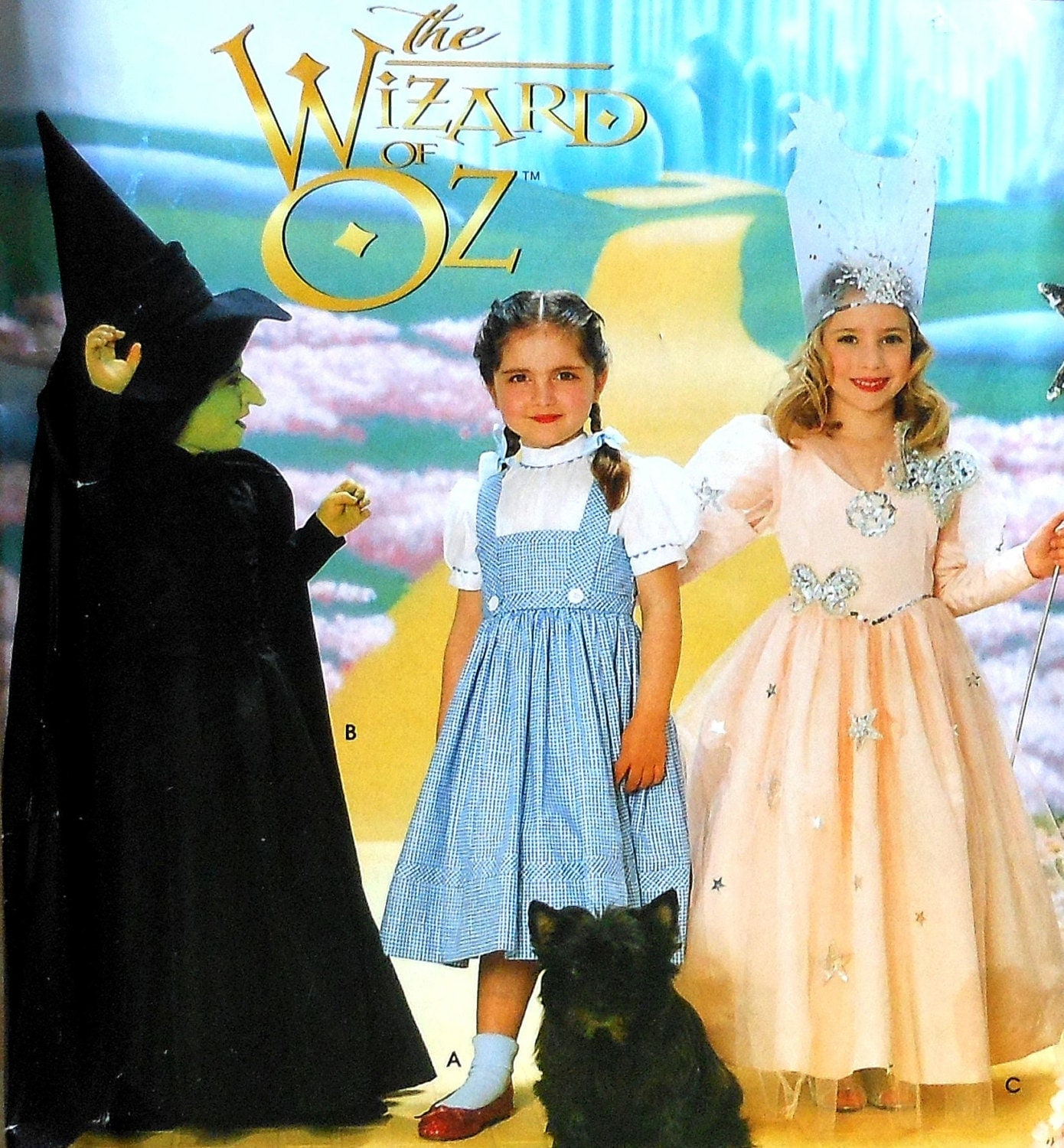 Wizard of Oz Costume Sewing Pattern UNCUT Simplicity 0631 Sizes 3 ...