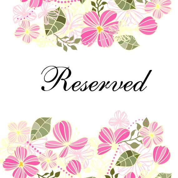 Reserved for Smadar