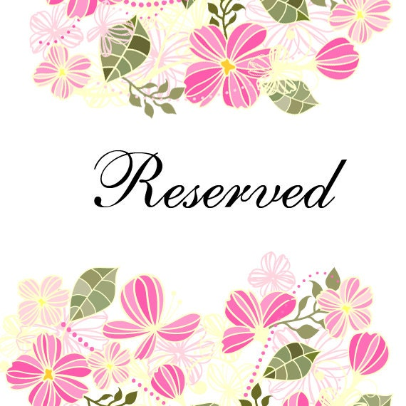 Reserved for Seema