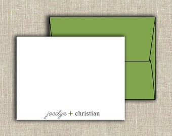 Simple Arithmetic Mr. and Mrs. Personalized Thank You Note Cards (Set of 10)