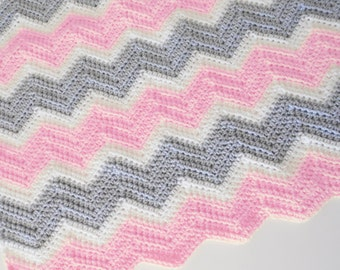 PDF Pattern for Chevron Baby Blanket