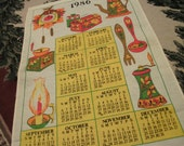 1986 Linen Kitchen Calendar