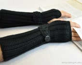 Arm Warmer Fingerless Glove Black