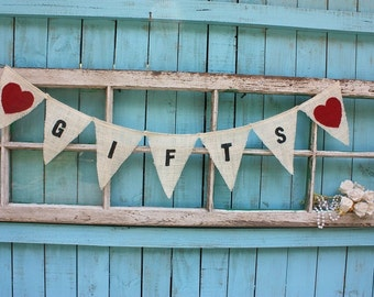 Gifts banner with heart color of your choice