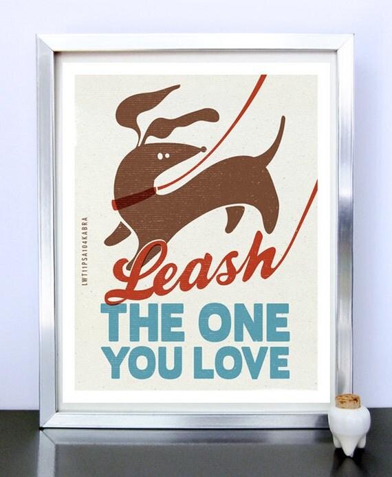 Daschund - Weiner Dog - Original Illustration - Home Decor - Poster Print