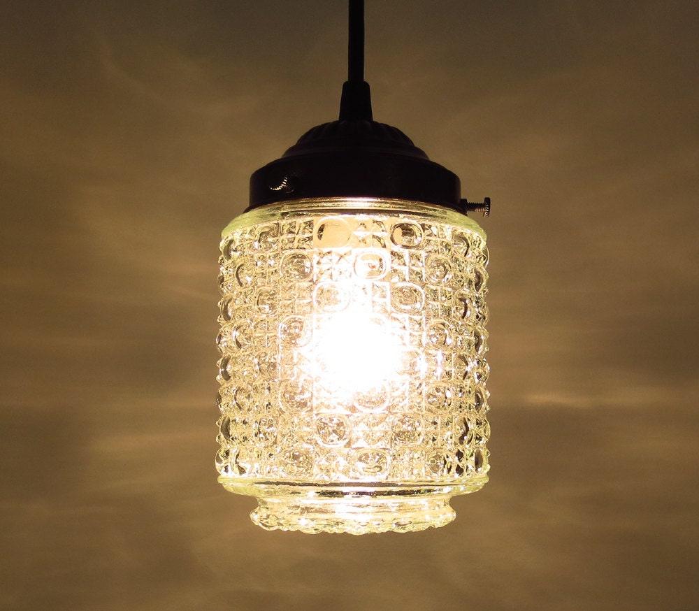 Thomston Vintage Bubble Glass Pendant Light