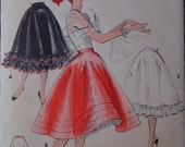 1950s Petticoat Womens Sewing Pattern - Butterick 7362 - Waist 28 - Buy 2 Get 1 FREE Sale