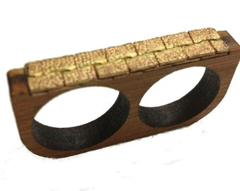 Eco Bamboo Deuces2- Two-Finger Ring-KSR101004