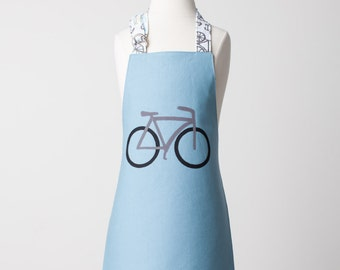 Kid / Toddler Reversible Appliqué Bike Apron