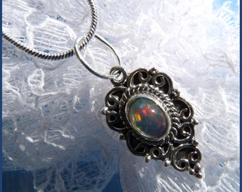Small Fire Opal - Necklace  DC 8651