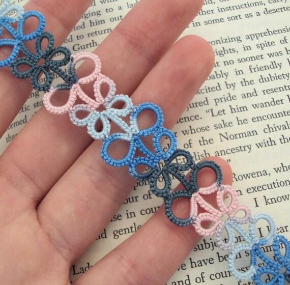 Multicoloured Lace Bookmark - Eva