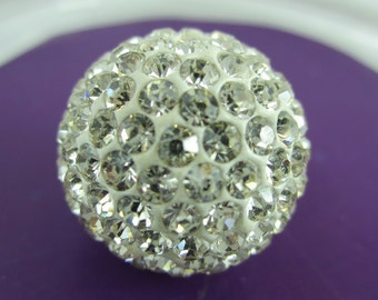 10pcs 6mm or 8mm Crystal Pave Rhinestone Polymer Clay Beads