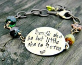 though she be but little she is fierce, Shakespeare quote bracelet