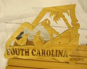 US State of SOUTH CAROLINA  Scroll Saw Plaque