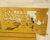 US State of SOUTH DAKOTA  Scroll Saw Plaque