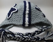 Dallas Cowboys Star Earflap Hat All sizes from Newborn to Adult