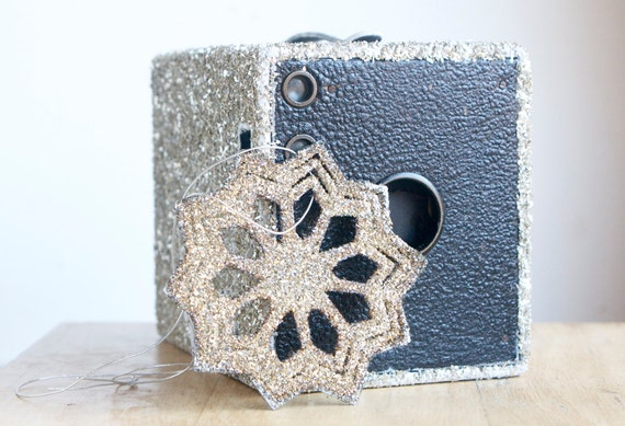 Glittery Box Camera, Winter Wedding Decor