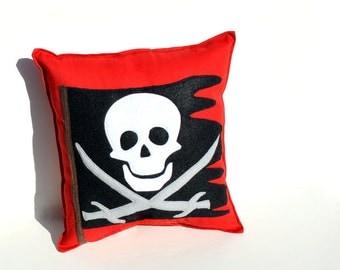 Pirate Flag Pillow- Skull and Crossbones