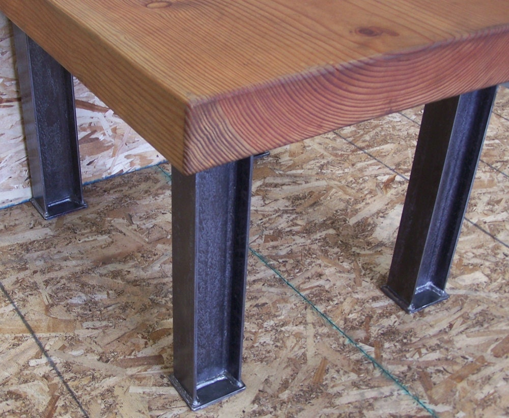 Industrial desk or dining table legs heavy structural steel for What to use for table legs