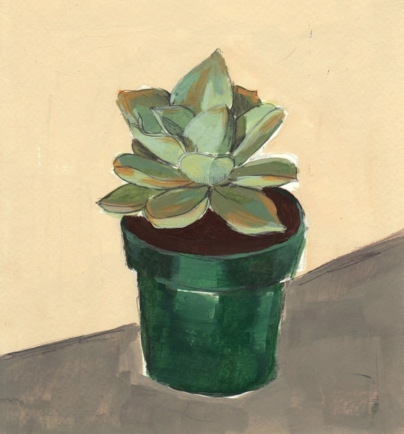 Succulent . giclee art print in all sizes