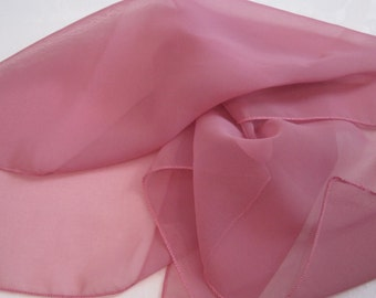 Soft Pink Sheer Square Scarf