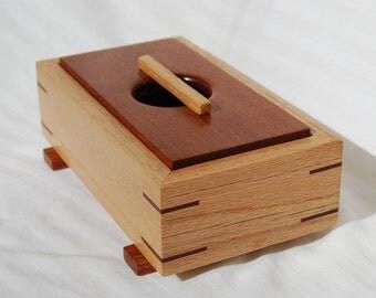 Reclaimed Oak and Jatoba Trinket or Keepsake Box