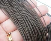 10M Dark brown waxed cord 1mm