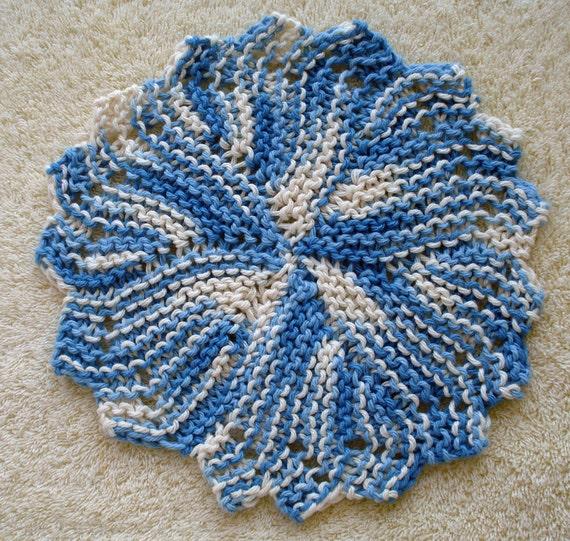 PDF Dishcloth Pattern for Hand Knit Heirloom Round ...