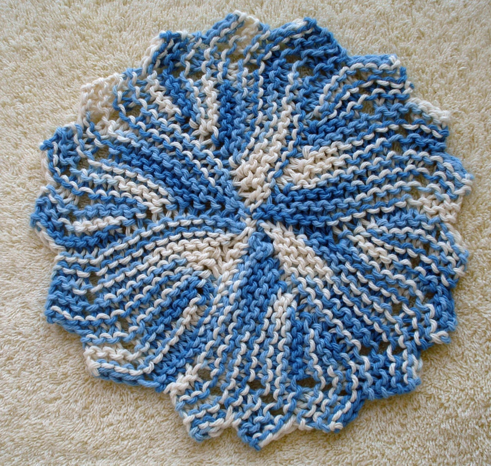 PDF Dishcloth Pattern for Hand Knit Heirloom Round by ...