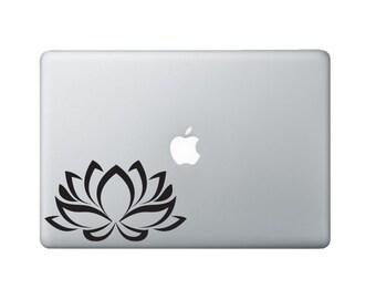 Lotus Flower Laptop Decal - Flower Decal Macbook