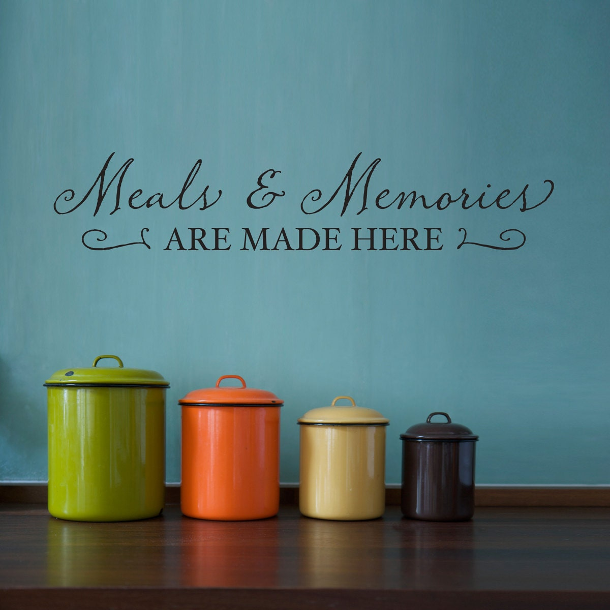 meals memories wall decal kitchen decal by stephenedwardgraphic