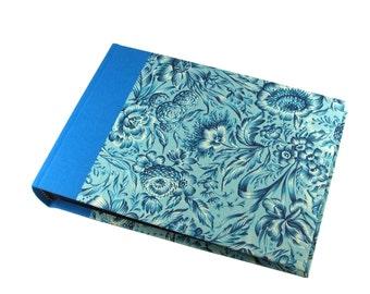 Wedding Photo Album Indian Flower blue turquoise