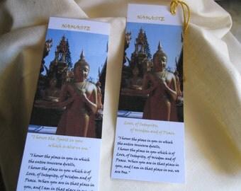 Bookmarks / Metaphysical Buddha Bookmark / Tibetan Bookmark  /Fine Art Photo Zen Buddha