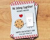 Milk and Cookies Printable Valentine Card