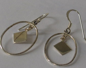 SALE Simple Oval Sterling Earrings