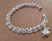 Autism Awareness Bracelet - Autism Bracelet- Autism Jewelry- Aspergers Bracelet- Autism  Chainmaille Bracelet- puzzzle piece bracelet-Autism